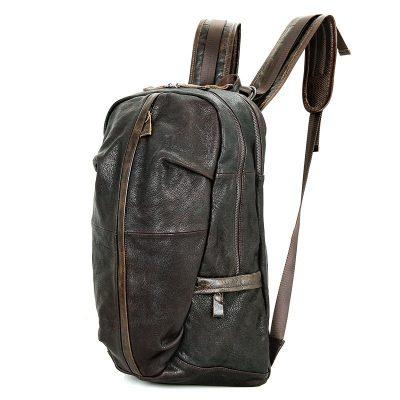 Mens Full Grain Leather Backpack