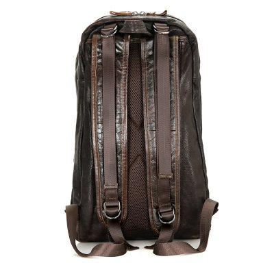 Mens Full Grain Leather Backpack, Leather Rucksack-Back