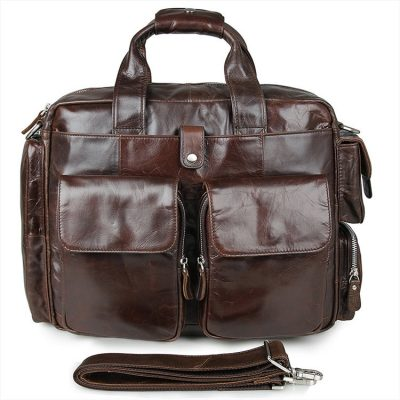 Men's Style Leather Travel Briefcase