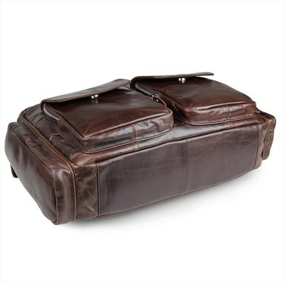 Men's Style Leather Travel Briefcase-Bottom