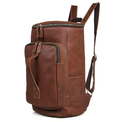 Outdoor Leather Backpack, Multi-functional Backpack