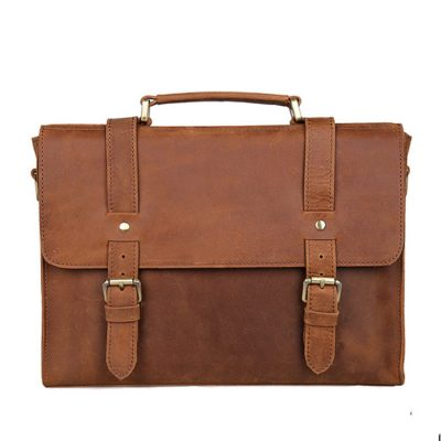 Slim Leather Messenger Bag, Leather Laptop Bag