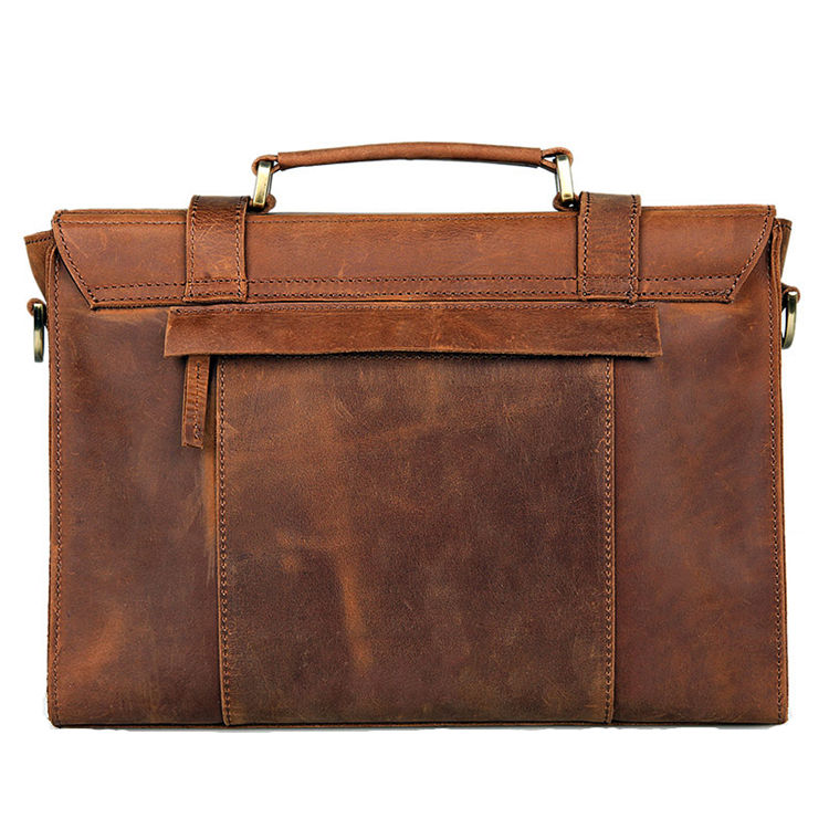 Slim Leather Messenger Bag and Leather Laptop Bag
