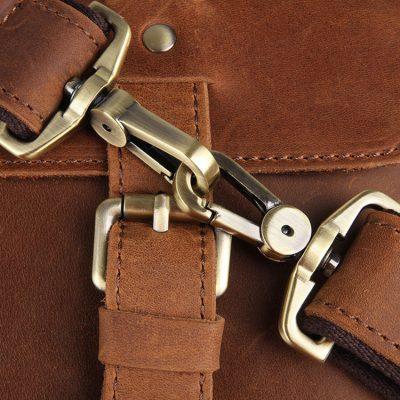 Slim Leather Messenger Bag, Leather Laptop Bag-Details