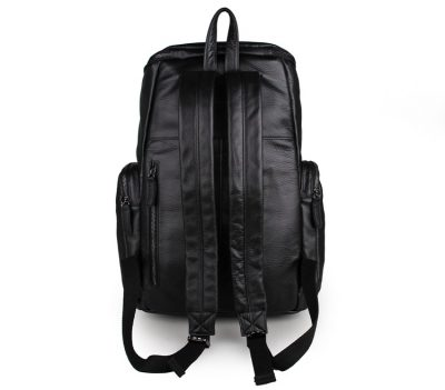 Stylish Urban Leather Backpack-Back