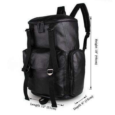 Stylish Urban Leather Backpack-Size