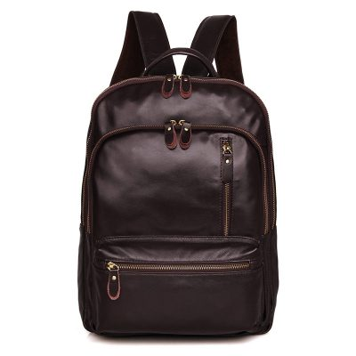 Unisex Leather Backpack, Laptop Backpack