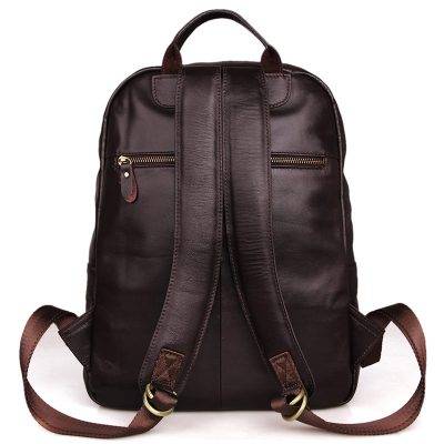 Unisex Leather Backpack, Laptop Backpack-Back