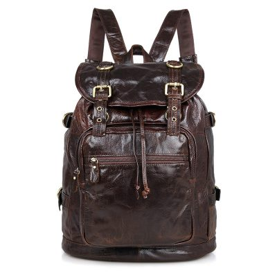 Vintage Leather Travel Backpack For Men
