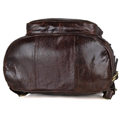 Vintage Leather Travel Backpack For Men-Bottom