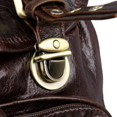 Vintage Leather Travel Backpack For Men-Botton