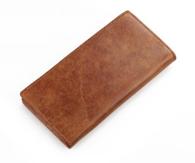 Brown Fashion Genuine Leather Long Wallet for Men