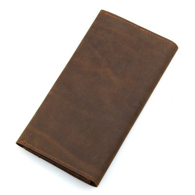 Crazy Horse Leather Wallet, Cowhide Wallet for Men-Back