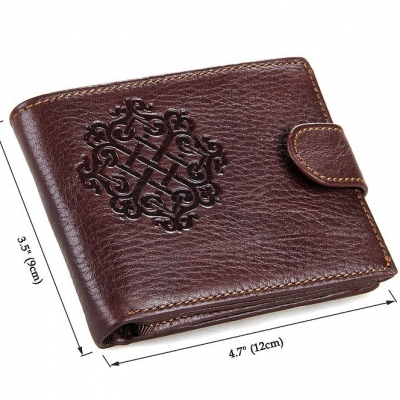Genuine Leather Wallet Card Holder-Size