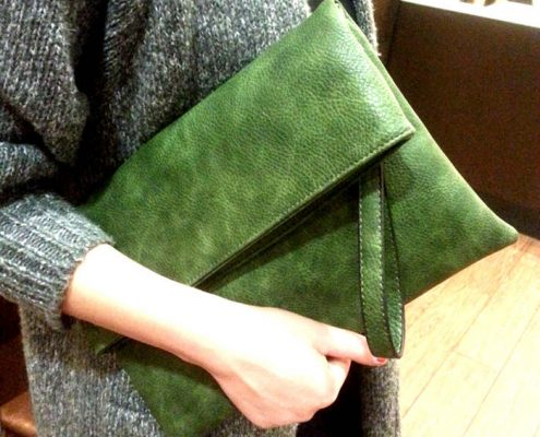 Green Leather Purses