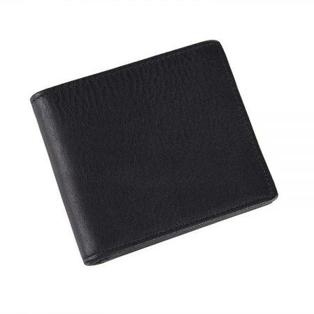 Soft Black Leather Wallet, Genuine Leather Wallet for Men