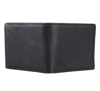 Soft Black Leather Wallet, Genuine Leather Wallet for Men-Back