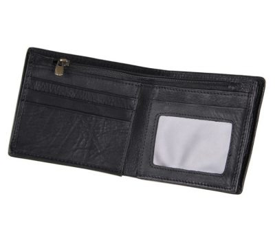 Soft Black Leather Wallet, Genuine Leather Wallet for Men-Inside