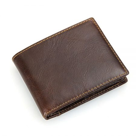 Vegetable Tanned Leather Wallet, Men's Leather Wallet