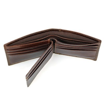 Vegetable Tanned Leather Wallet, Men's Leather Wallet-Top