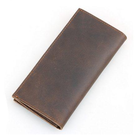 Vintage Leather Long Wallet for Wen