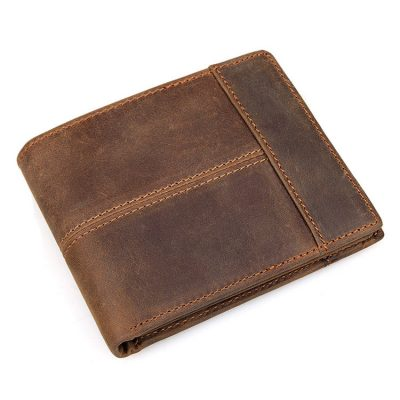 Vintage Leather Wallet, Crazy Horse Leather Wallet