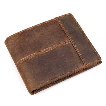 Vintage Leather Wallet, Crazy Horse Leather Wallet