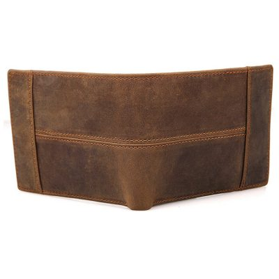 Vintage Leather Wallet, Crazy Horse Leather Wallet-Back