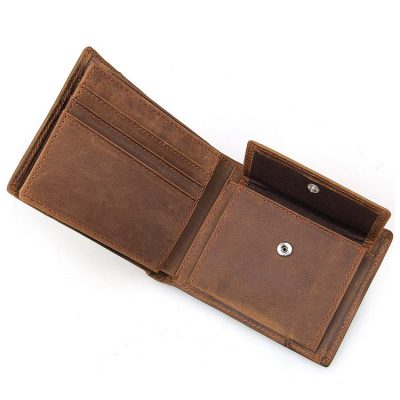 Vintage Leather Wallet, Crazy Horse Leather Wallet-Pocket