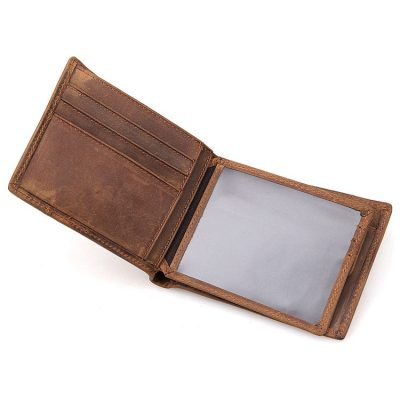 Vintage Leather Wallet, Crazy Horse Leather Wallet-Window