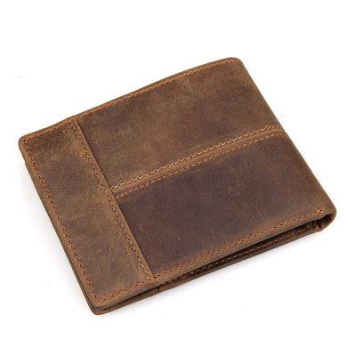 Vintage Leather Wallet, Crazy Horse Leather Wallet for Men