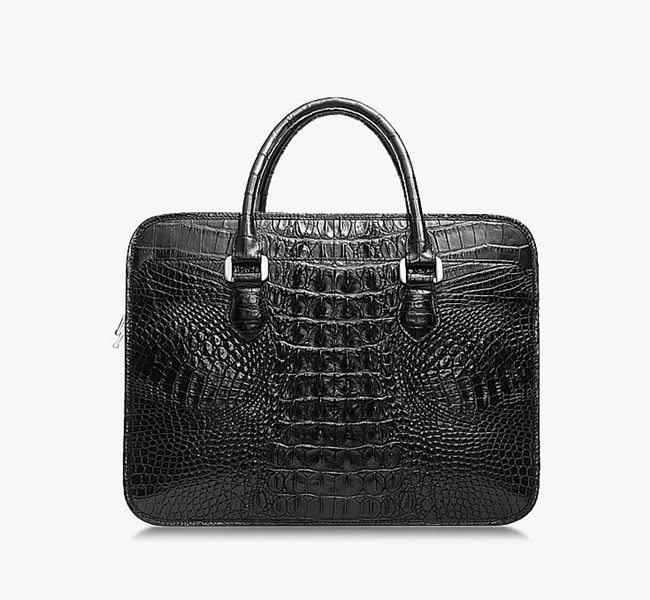 crocodile leather briefcase for men
