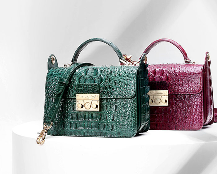 BRUCEGAO's Handmade Crocodile Leather Bags