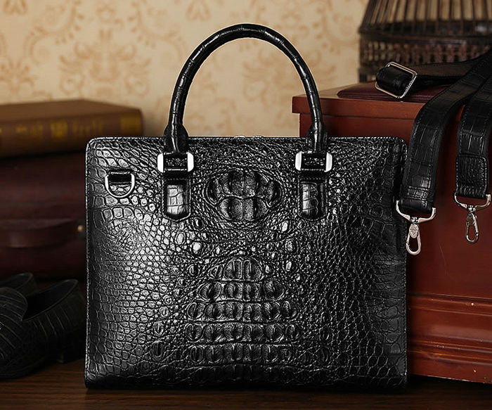 Crocodile Leather Briefcase Is the Best Father's Day Gift for Your Father