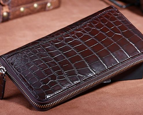 Dark brown crocodile wallet