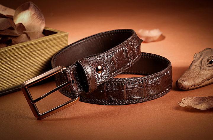 Brown series crocodile belt