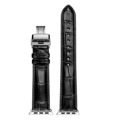 Alligator & Crocodile Apple Watch Band-Black