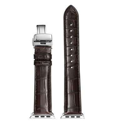 Alligator & Crocodile Apple Watch Band-Brown