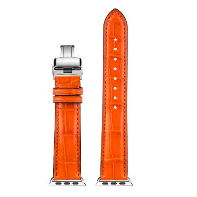 Alligator & Crocodile Apple Watch Band-Orange