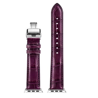 Alligator & Crocodile Apple Watch Band-Purple