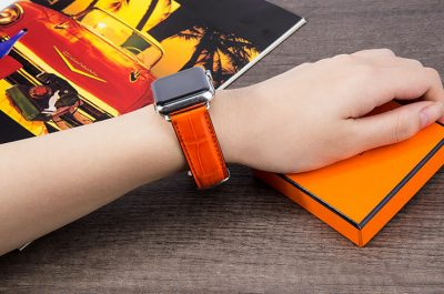 Alligator & Crocodile Apple Watch Band for Women-Orange