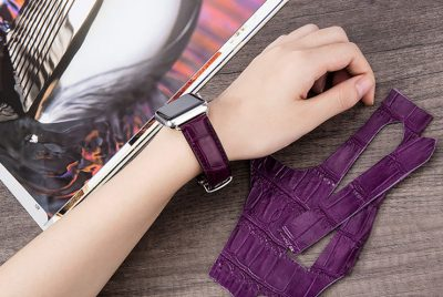 Alligator & Crocodile Apple Watch Band for Women-Purple