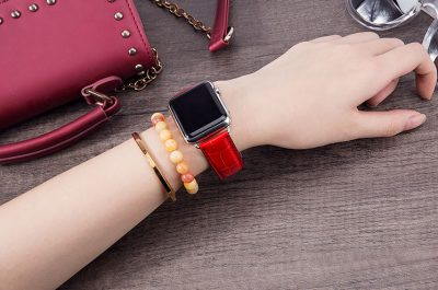 Alligator & Crocodile Apple Watch Band for Women-Red