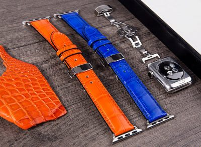 Genuine Alligator & Crocodile leather Apple Watch Bands Straps