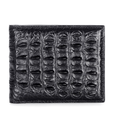 Crocodile Backbone Skin Bifold Wallet