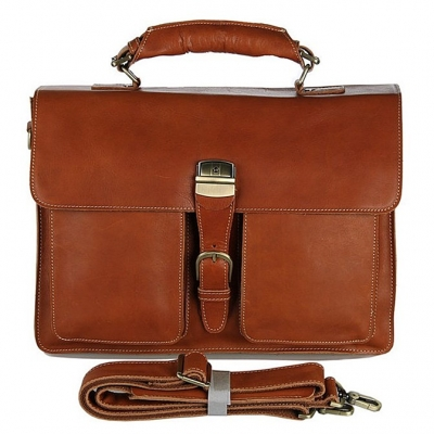 Handmade Leather Messenger Bag Classic Leather Briefcase
